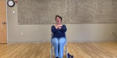 Core strength chair training with Suzanne
