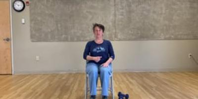Posture strength training in a chair with Suzanne!